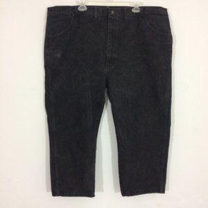 Rustler Mens 46x30 Black 100% Cotton Denim Jeans